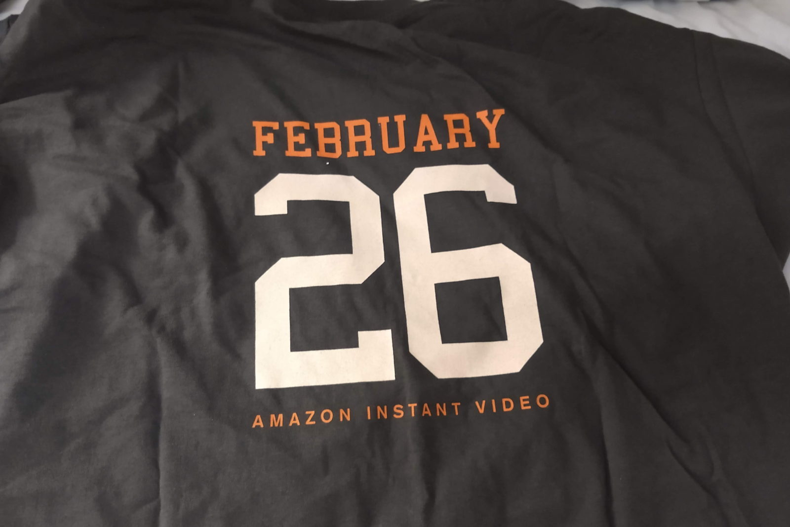 Back of the I Flex With the Phoenix t-shirt, saying 'February 26 Amazon Instant Video