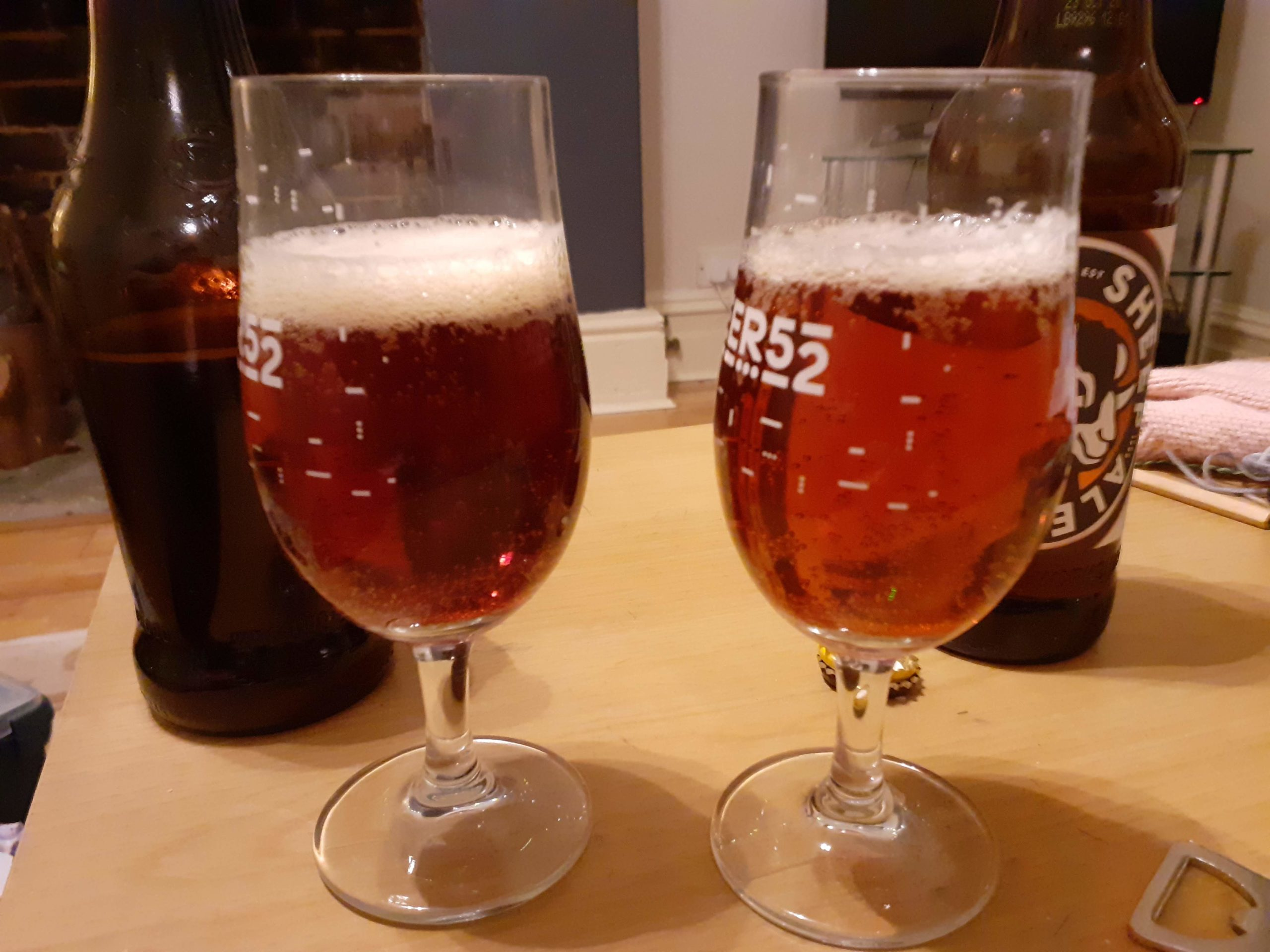 Comparing the colour of the beer