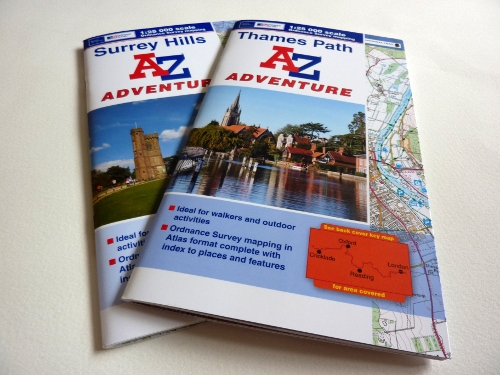 A-Z Adventure Atlas Surrey Hills and Thames Path